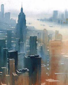 Beautiful Watercolor Cityscapes by Rafal Rudko