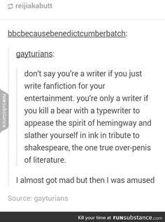 Tf kinda writer does that shit?