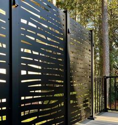 H x 3 ft. W River Rock Metal Privacy Screen Backyard Privacy Screen, Backyard Fences, Fence Landscaping, Privacy Screens, Privacy Walls, Modern Fence Panels, Modern Fence Design, House Gate Design, Front Gate Design