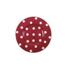 Assiette à dessert ronde porcelaine Freshness Dots rouge - Bruno Evrard Création
