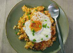 "Kimchi Fried Rice by Judy Joo: Kimchi bokkeumbap is a variety of bokkeumbap, a popular dish in Korea. Its name literally translates as ""kimchi fried rice"""