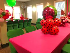 Watermelon Birthday Parties, 1st Birthdays, Balloons, Fruit, Party, Mugs, Globes, 1st Year Birthday, Balloon