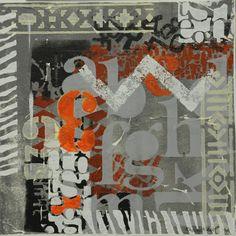 Monoprint Flag, Contemporary, Art, Art Background, Kunst, Performing Arts, Flags