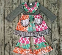 Is this not the cutest outfit you've ever seen?! The color     Divas on a dime coop, baby girl, toddler girl, little girls, outfits, fashionista, icings, boutique outfit, headbands, leggings, holiday, ruffles, fall, autumn, winter