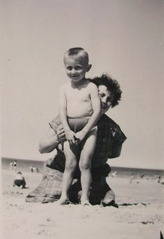 Vintage Summer Photo  Mother and Son at the Beach by ChicEtChoc, $3.75