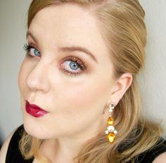 Autumn makeup, dark lips, orange brown eyemakeup  - www.liseemilia.com