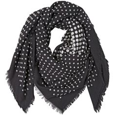 ALEXANDER MCQUEEN Skull Wool & Silk Scarf - Black/White ($675) ❤ liked on Polyvore featuring accessories, scarves and huivit