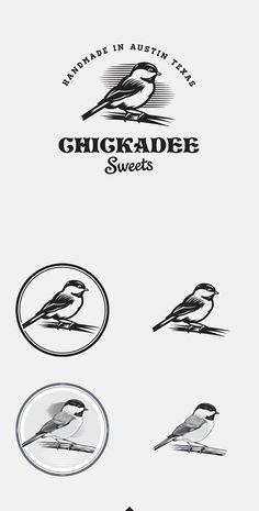 Logo / Emblem / chickadee sweets / bird