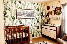 This room is something straight out of my dreams. You can NEVER have too much Cactus. Can I get an amen! Baby Room Design, Baby Must Haves, New Baby Gifts, Holiday Gift Guide, My Dream, Baby Shower Gifts, Amen, Blankets, New Baby Products