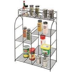 Storage-Organizer-Rack-Stand-Wall-Mount-5-Tier-Kitchen-Bathroom-Shelf-Holder-New