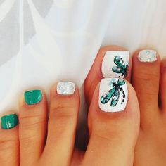Pretty Toe Nails, Cute Toe Nails, Gorgeous Nails, Gel Toe Nails, Toe Nail Art, Pretty Nail Designs, Toe Nail Designs, Pedicure Nail Art, Manicure
