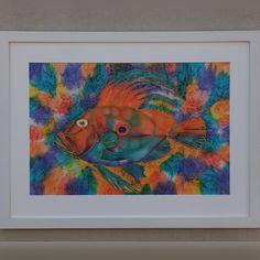 "0 Likes, 1 Comments - Gaylene Lonergan (@gaylenelonerganart) on Instagram: ""Original Art - Silk Painting ""Hunky Dory"" SOLD 👩🎨🎨💕 #gaylenelonerganart #silkpainting #fish…"""