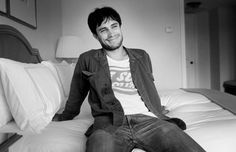 Gael Garcia Bernal...I want to just push him back onto this bed and kiss those lips. Lol