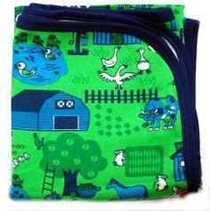 Danish SMAFOLK lighweight blanket - GREEN FARM Scandinavian Blankets, Green Farm, Swedish Weaving, Kids Blankets, Blanket Sizes, Danish, Organic Cotton, Lunch Box, Plaid