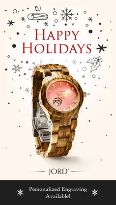 Give your loved ones the most unique gift of 2016, a natural wood watch from JORD! Unique, unexpected, and unforgettable. Free shipping worldwide with an extended return policy through the holiday!