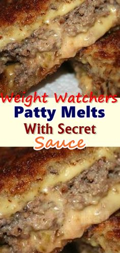 Patty Melts With Secret Sauce INGREDIENTS: pounds ground beef 2 teaspoons Worcestershire sauce beef recipes for kids Weight Watchers Meal Plans, Weight Watcher Dinners, Weight Watchers Diet, Weight Watchers Desserts, Skinny Recipes, Meat Recipes, Cooking Recipes, Healthy Recipes, Healthy Options