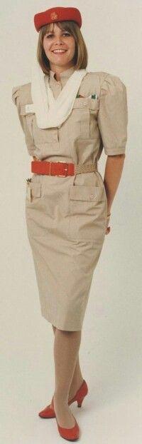 Emirates Stewardess old uniform