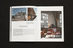 The Intérieurs magazine is a bilingual publication of three issues per year about culture of design and architecture.