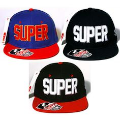 New snapback 3D embroidered hat cap - SUPER by SPHL  $16.50