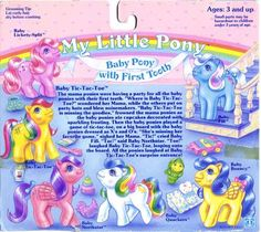My Little Pony First Tooth Baby Backcard - Baby Tic-Tac-Toe