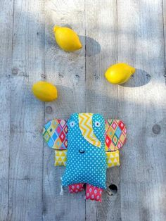 """small Elephant soft toy """"ELIAS"""", teal yellow pink, Animal cushion, baby shower gift boys and girls, whimsical reptile friend Small Elephant, Little Elephant, Baby Shower Gifts For Boys, Baby Gifts, Teal Yellow, Pink, Animal Cushions, Shops, Softies"""