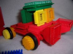 Vintage & 90's BRISTLE BLOCKS 119 pcs. colorful toddler preschool & up plastic....