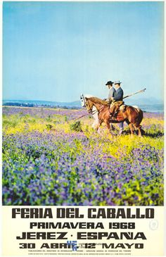 Cartel anunciador de la Feria de Jerez de la Frontera de 1968