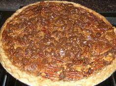 Pecan pie + chocolate + bourbon What is not to like? A lot!