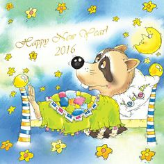 """Oscar says, """"See you next year."""" From: """"Oscar and the Zoo"""""""