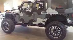 $100,000 Camo Paint Jeep Wrangler JK Unlimited w/ Full Rhino Liner ...