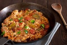 Chicken and Smoked Sausage Jambalaya from 25 One-Pot Meals Perfect For Winter Best Jambalaya Recipe, Vegan Jambalaya, Shrimp Jambalaya, Chicken And Sausage Jambalaya, Cajun Recipes, Haitian Recipes, Donut Recipes, Vegan Recipes, Pasta Recipes