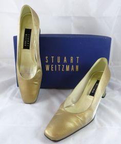 Stuart Weitzman Gold Matte Lame Anna Women's Heels by GhicChicBoutique, $45.00