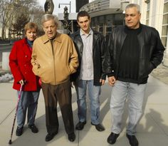 Gambino capo George (Big George) DeCicco (second from left), with then-fiancee Gail Lombardozzi, grandson Robert DeCicco Jr. and son Robert DeCicco, in 2007.