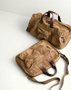 J.Crew men's Abingdon duffel bag and briefcase.