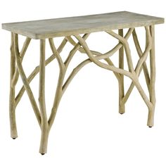 Currey and Company Creekside Portland Console Table. Features: - Finish: Portland - Freight Information: Furniture Carrier - Country of Original: Philippines Materials: Concrete/Steel Measurements: 42