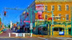3rd and Beale Street - Memphis Impression. A digital technique