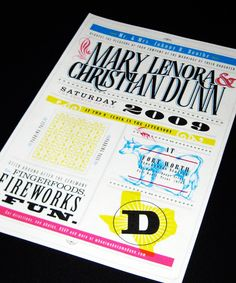 Cory Say Wedding Invitation design. 12 Inspiring #Wedding Invitations #design #typography #print