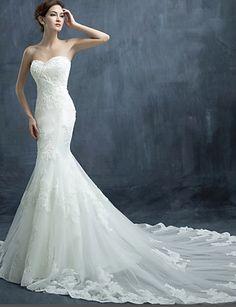 Vestido de Novia Corte Sirena Sweetheart Tul @ Vestidos de Novia Blog