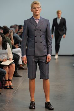 double-breasted short suit! junya watanabe spring/summer 2013.