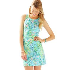 Blue eaven Lilly shift brand new never worn, will trade for other Lilly Lilly Pulitzer Dresses