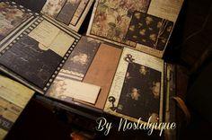 9 x 8 Time Traveler Mini Album PDF Tutorial by Nostalgiquescrap