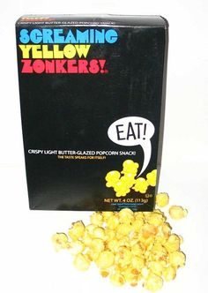 Screaming Yellow Zonkers - Yummy! Even the box was so 70's!