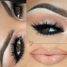 Beautiful nude look with a suddle bit of dark purple