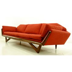 Early 60s gondola sofa by Adrian Pearsall for Craft Associates
