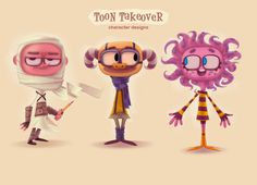 Toon Takeover by Miklos Weigert, via Behance