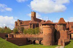 Malbork Castle In Pomerania Region Of Poland. Malbork Castle, Vector Photo, Free Photos, Architecture Design, Medieval, Stock Photos, Mansions, House Styles, Building