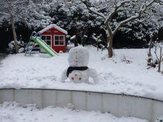 An upside-down snowman by Melinda Alcaraz Holohan