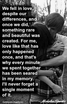 Best love Sayings & Quotes    QUOTATION – Image :    As the quote says – Description  Nicholas Sparks Romantic Love Quotes  Sharing is Love – Don't forget to share this quote and share the love !