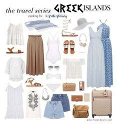 """Pack And Go: Greek Islands<3"" by soccerstar59777 ❤ liked on Polyvore featuring Packandgo and greekislands"