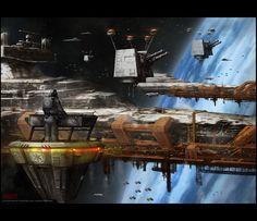 Star Destroyer being built.